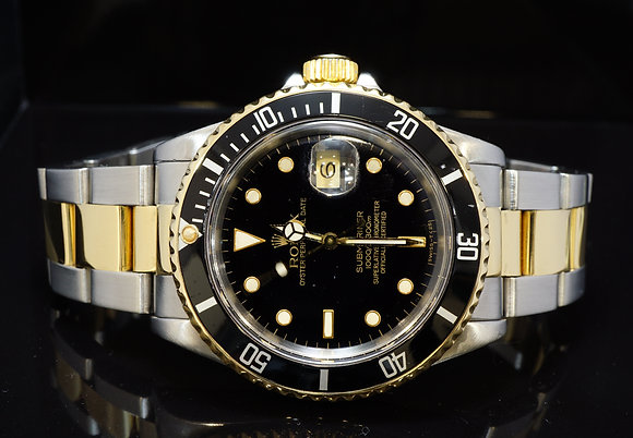 ROLEX 1990 Submariner, Steel & Gold, 16613, Boxed