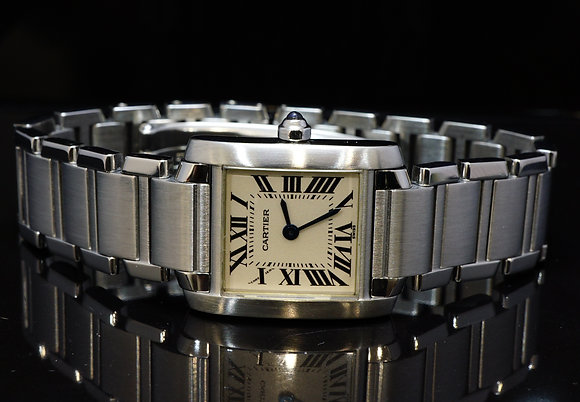 CARTIER 1999 Ladies Tank Francaise, 2384, Box & Papers