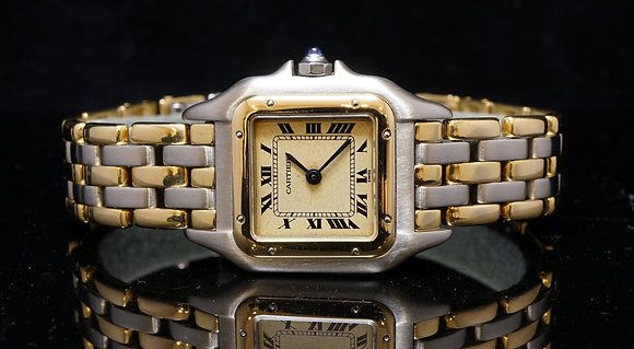 CARTIER Panthere Ladies Steel & Gold 3 Row