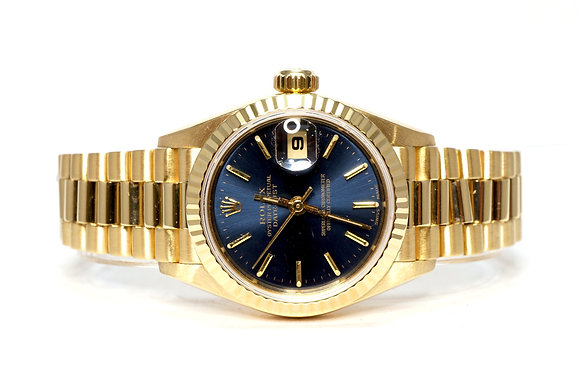 ROLEX 2000 Datejust 26, 79178, 18ct Yellow Gold, Box & Papers