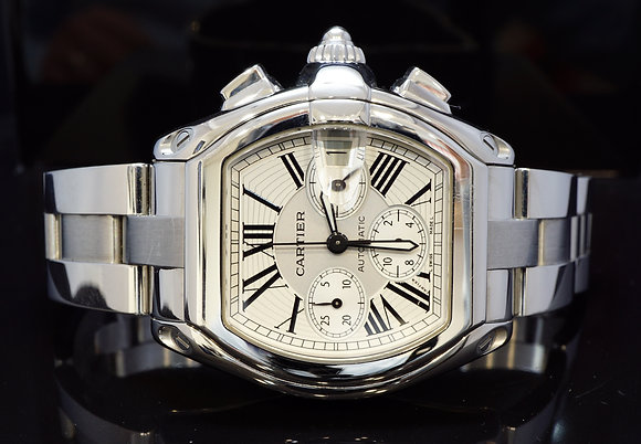 CARTIER 2007 Roadster XL Chronograph, W62019X6, Excellent Condition, Box & Paper