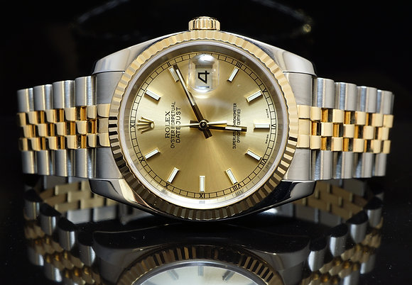 ROLEX 116233 Datejust, Steel & Gold, 2004, Box & Papers