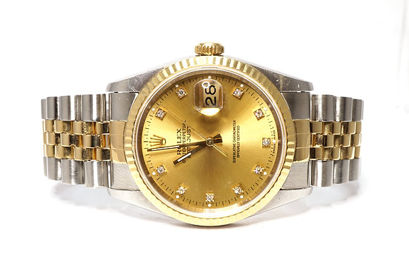 ROLEX 1994 Datejust 36, 16233, Steel & Gold, Boxed