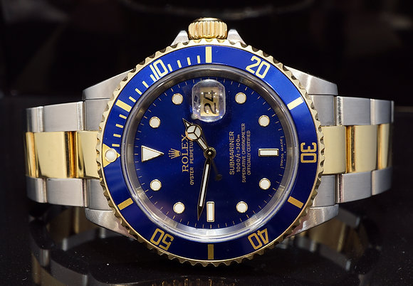 ROLEX 2007 Submariner, Steel & Gold, 16613, Box & Papers
