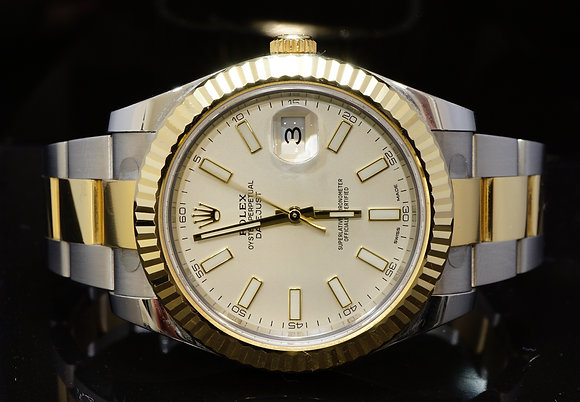 ROLEX 2016 41mm Datejust 2, Steel & Gold, 116333, Excellent,Box & Papers