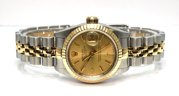 ROLEX 1993 Datejust 26, 69173, Steel & Gold, Jubile, Box & Papers