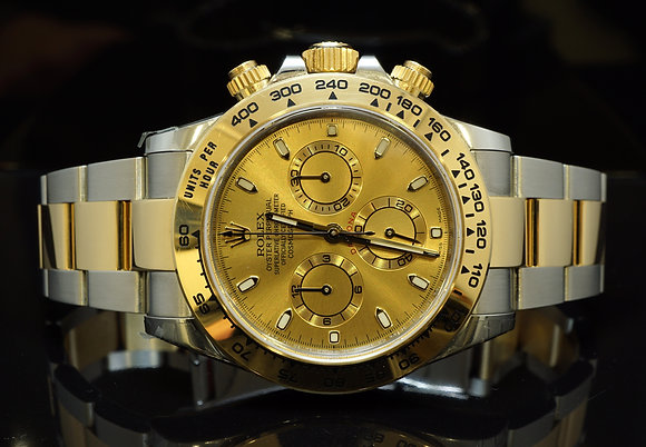 ROLEX 2016 Daytona Steel & Gold, 116503, Partially Stickered Still, Box & Papers