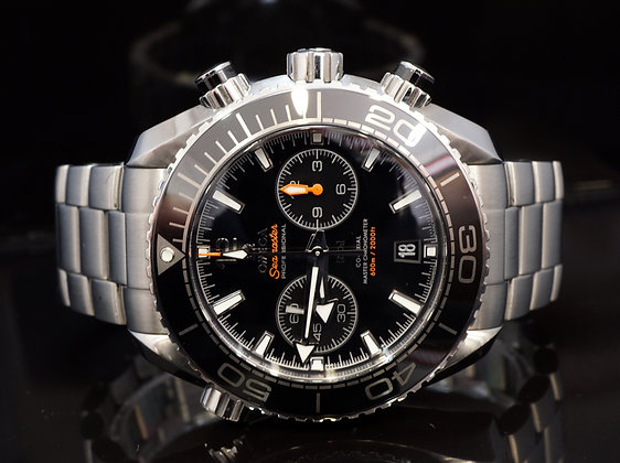 OMEGA 2017 Planet Ocean Chronograph, 21530465101001, Box & Papers
