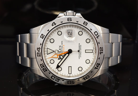 ROLEX 2013 Explorer II, White Dial, 216570, Box & Papers