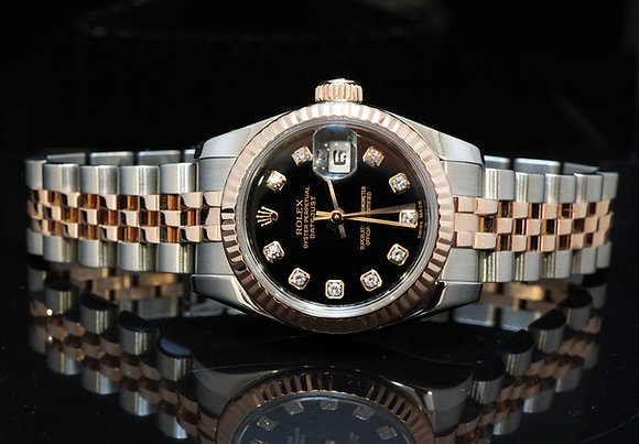 ROLEX 2010 Datejust, Steel 7 Rose Gold, 179171, MINT, Box & Papers