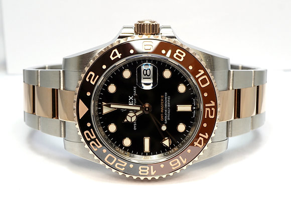 """ROLEX 2020 GMT Master II """"Rootbeer"""", 126711CHNR, UMWORN, Box & Papers"""