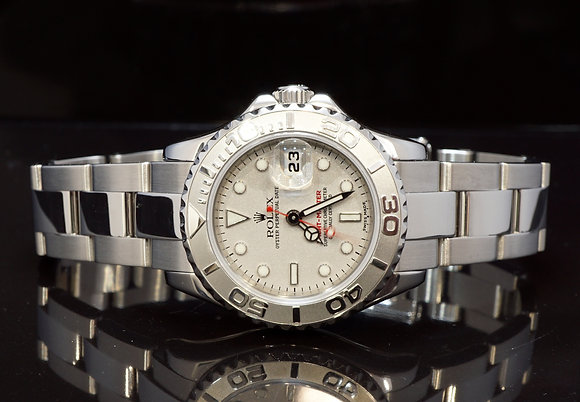 ROLEX 2005 Yacht-Master 29, Steel & Platinum, 169622, Box & Papers, Seviced 5/18