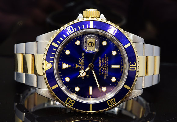 ROLEX 1997 Submariner, Steel & Gold, 16613, Box & Papers