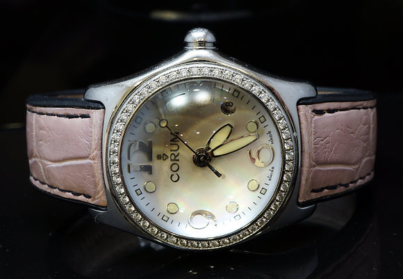 CORUM Medium Bubble, Diamond Bezel, MOP, Box & Papers