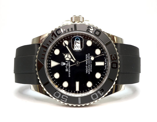 ROLEX 2020 Yacht-Master 42, 226659, 18ct White Gold, Oysterflex, Box & Papers