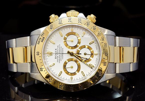 ROLEX 1997 Daytona, Steel & Gold, Zenith Movt, 16523, MINT, Boxed