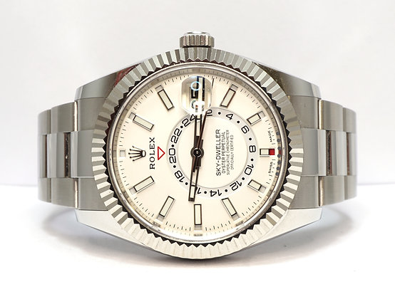 ROLEX 2020 Sky-Dweller, 326934, White Dial, Box & Papers