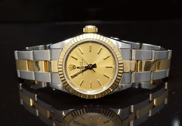 ROLEX 1987 Oyster Perpetual 26, Steel & Gold, 67193, Boxed