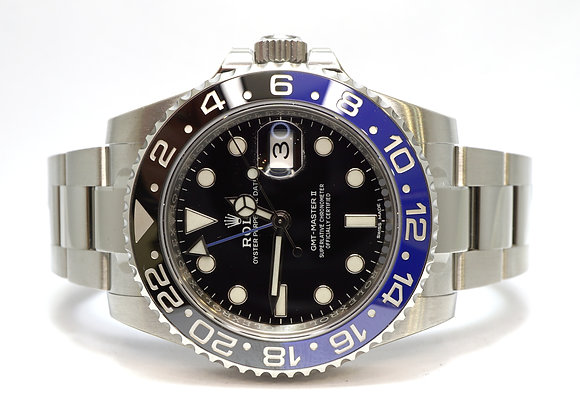 ROLEX 2018 GMT Master II, 116710BLNR, UNWORN, Fully Stickered, Box & Papers