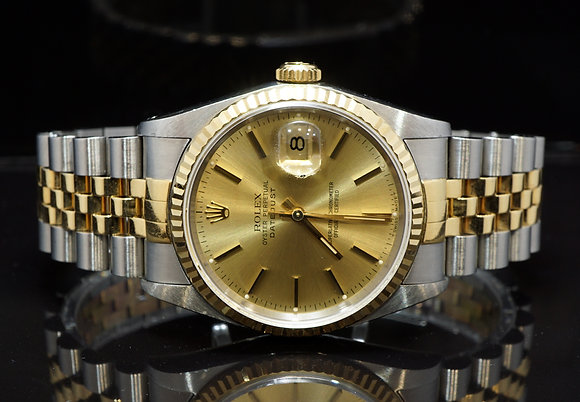 ROLEX 1990 Datejust 36, Steel & Gold, 16233, Boxed