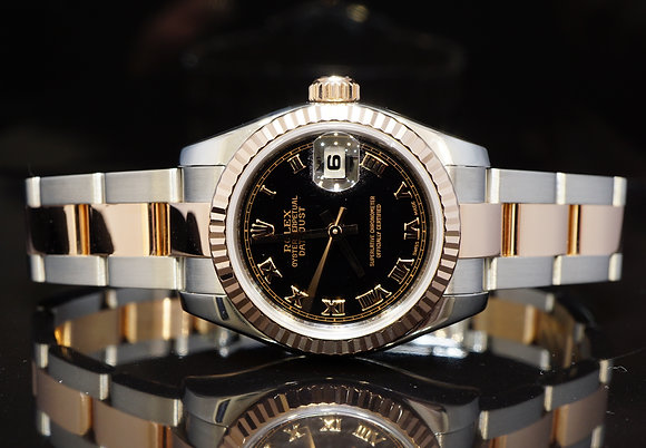 ROLEX 2005 26mm Datejust, Steel & Rose Gold, 179171, MINT, Boxed