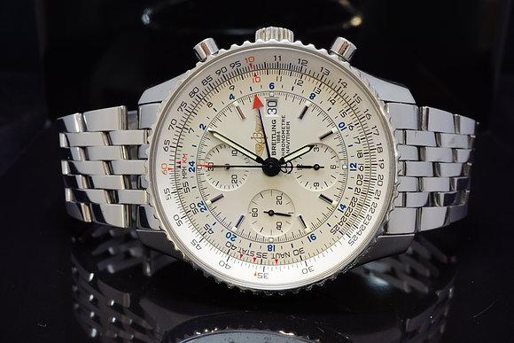 BREITLING Navitimer World GMT, Steel, A24322, Boxed