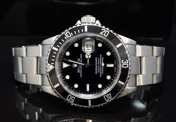 ROLEX 2003 Submariner Date, 16610, Steel, Box & Papers