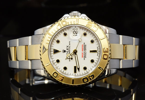 ROLEX 2008 35mm Yacht-Master, Steel & Gold, 168623, MINT, Box & Papers