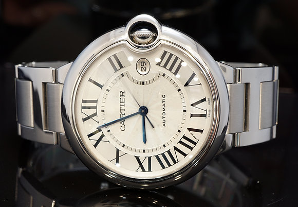 CARTIER 2009 42mm Ballon Bleu, Steel, Auto, W69012Z4, MINT, B&P