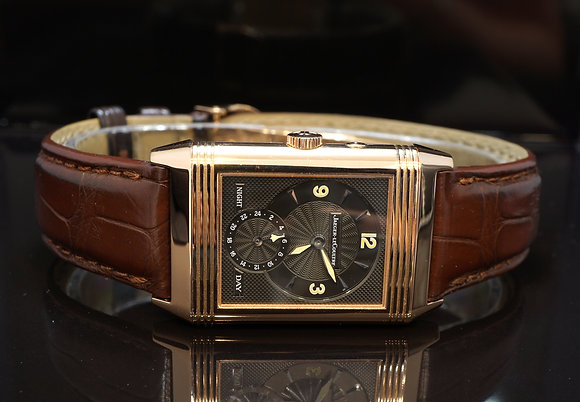 Jaeger LeCoultre Night & Day Reverso, 18ct Rose Gold, 270.2.54, B&P