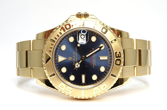 ROLEX 2009 Yacht-Master 35, 168628, 18ct Yellow Gold, Boxed