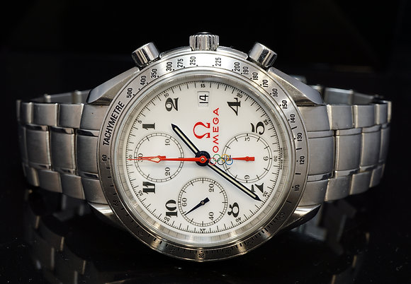 """OMEGA Speedmaster """"Olympic"""" Edition, 323.10404004001, Box & Papers"""