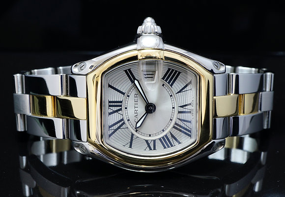 CARTIER 2014 Ladies Roadster, Steel & Gold, Extra Strap, Box & Papers