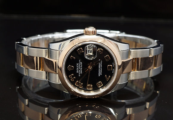 ROLEX 2008 Datejust 26, 179161, Steel & Rose Gold, Box & Papers