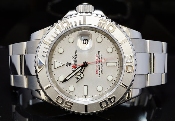 ROLEX 2009 40mm Yacht-Master, Steel & Platinum, 16622, MINT,Box & Papers