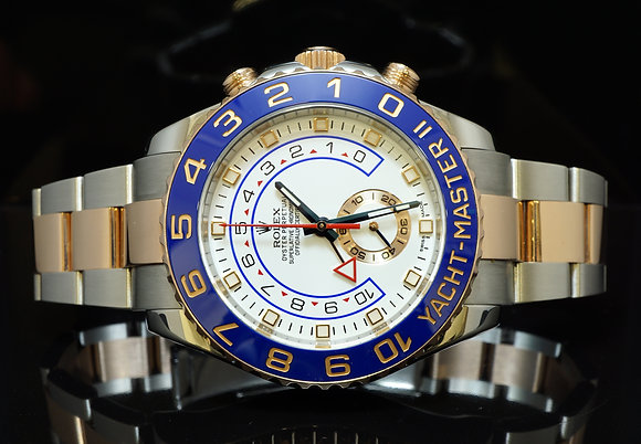 ROLEX 2014 Yacht-Master 2, Steel & Rose Gold, 116681, MINT, Box & Papers