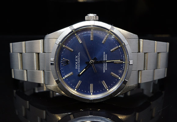 ROLEX 1987 34mm Oyster Perpetual, 1003, Blue