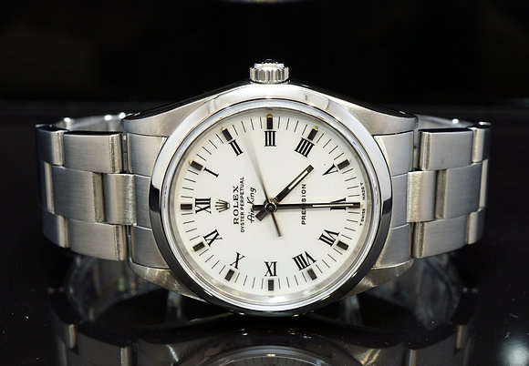 ROLEX 1992 Air-King, 14000, Stainless Steel, White Dial