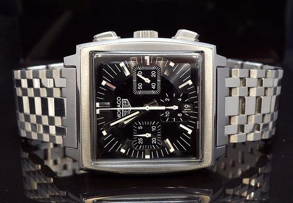 TAG Heuer 2000 Steel Monaco, Chronograph, CS2111, Box & Papers