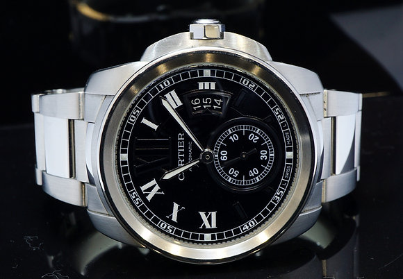 CARTIER 2016 Calibre de Cartier, Steel, W7100014, MINT, Box & Papers
