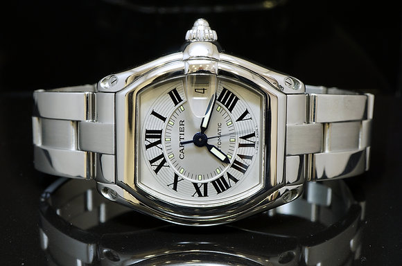 CARTIER Roadster Auto, All Steel, W62004V3