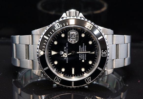 ROLEX 1997 Submariner Date, 16610, Steel, Boxed