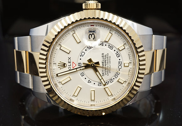 ROLEX 2019 Sky-Dweller, Steel & Gold, 326933, Box & Papers
