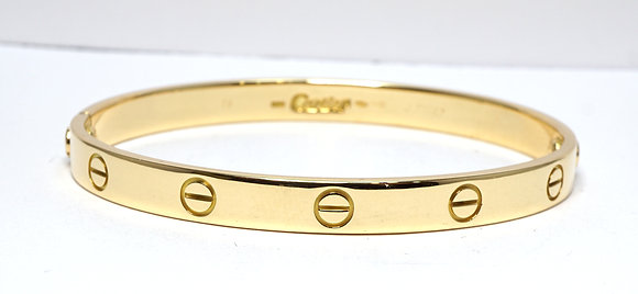 CARTIER 2001 Love Bangle, 18ct Yellow Gold, Size 18, Box & Papers