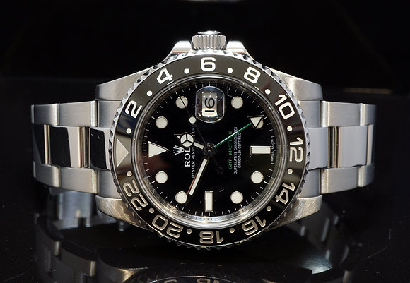 ROLEX 2011 GMT Master II, 116710LN, Box & Papers