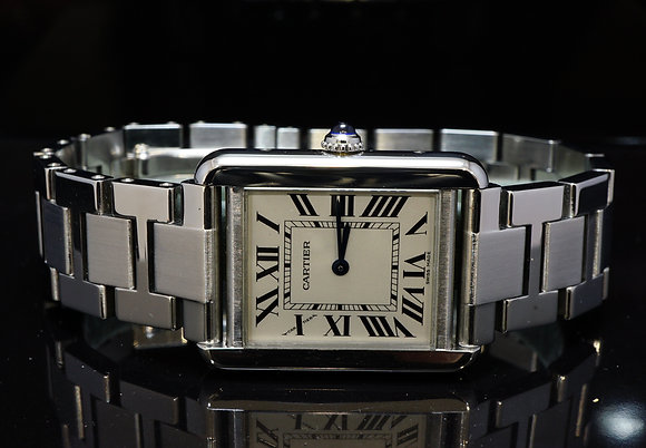 CARTIER 2012 Ladies Tank Solo, Steel, W5200013, MINT, Box & Papers