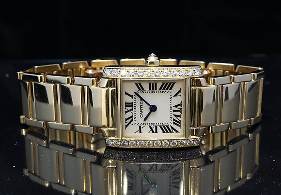 CARTIER 18ct Yellow Gold, Tank Francaise, WE1001R8, MINT, Box & Papers