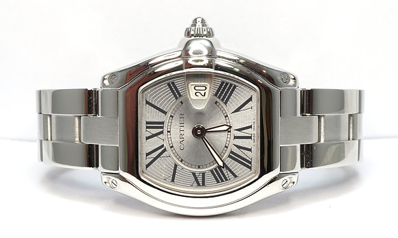 CARTIER 2009 Roadster, W62016V3, Extra Strap, Box & Papers