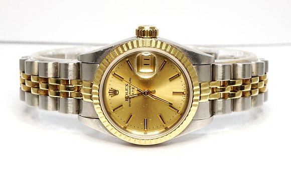 ROLEX 1993 Datejust 26, 69173, Steel & Gold, Serviced, Box & Papers