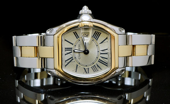 CARTIER Roadster Ladies, Steel & Gold, W62026Y4
